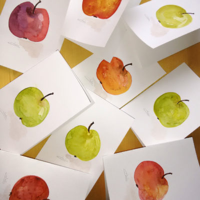 Apple Watercolors